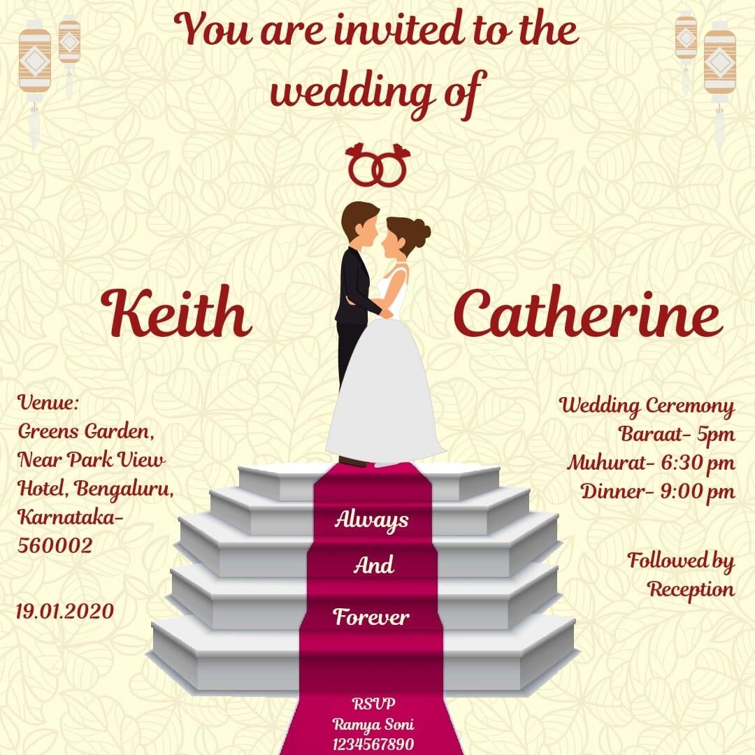 Free Order online Wedding Invitation e-cards